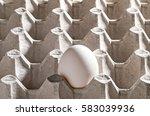 chicken white egg in a cassette ... | Shutterstock . vector #583039936