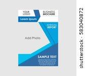 business brochure presentation... | Shutterstock .eps vector #583040872