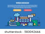 web design concept for web site.... | Shutterstock .eps vector #583042666