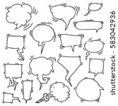 set of sketchy hand drawn... | Shutterstock .eps vector #583042936