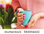 Cup Of Coffee In Woman\'s Hands...