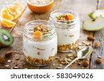 delicious healthy american... | Shutterstock . vector #583049026