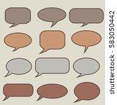 thought frame. speech bubble.... | Shutterstock .eps vector #583050442
