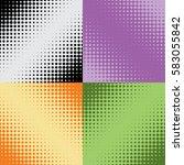 halftone texture  seamless... | Shutterstock .eps vector #583055842