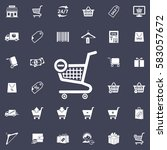 vector shopping cart icon | Shutterstock .eps vector #583057672