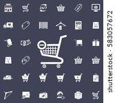 vector shopping cart icon | Shutterstock .eps vector #583057672