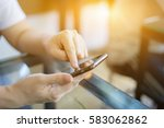 online banking payment... | Shutterstock . vector #583062862