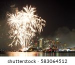 Fireworks Over Sydney Harbor...