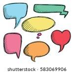 hand drawn speech bubble... | Shutterstock .eps vector #583069906