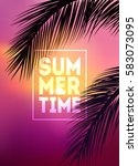 summer tropical background with ... | Shutterstock .eps vector #583073095