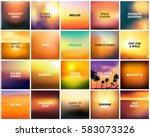 big set of 20 square blurred... | Shutterstock .eps vector #583073326
