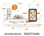 application to look for bikes... | Shutterstock .eps vector #583073686