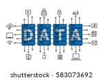 data center vector illustration.... | Shutterstock .eps vector #583073692