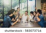 group of asian business people... | Shutterstock . vector #583073716