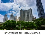 high rise building like a... | Shutterstock . vector #583083916