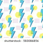 90's style seamless pattern | Shutterstock .eps vector #583086856