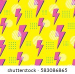 90's style seamless pattern | Shutterstock .eps vector #583086865