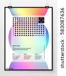 poster design. banner template. ... | Shutterstock .eps vector #583087636