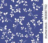 leaf illustration pattern | Shutterstock .eps vector #583087702