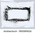 black paint  ink brush strokes  ... | Shutterstock .eps vector #583089826