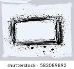 black paint  ink brush strokes  ... | Shutterstock .eps vector #583089892