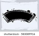 black paint  ink brush strokes  ... | Shutterstock .eps vector #583089916