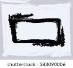 black paint  ink brush strokes  ... | Shutterstock .eps vector #583090006