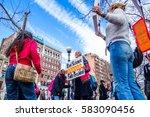 boston  ma usa   february 19 ... | Shutterstock . vector #583090456