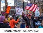 boston  ma usa   february 19 ... | Shutterstock . vector #583090462