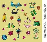 summer collection | Shutterstock .eps vector #583093942
