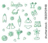 summer collection | Shutterstock .eps vector #583093948