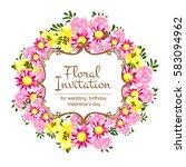 vintage delicate invitation... | Shutterstock . vector #583094962