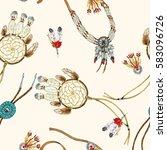 indian jewelry pattern  | Shutterstock . vector #583096726