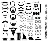 vector illustration set of... | Shutterstock .eps vector #583108948