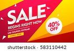 sale voucher  discount and... | Shutterstock .eps vector #583110442