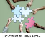 togetherness connection... | Shutterstock . vector #583112962