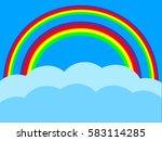a set of editable vector... | Shutterstock .eps vector #583114285