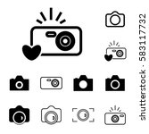digital camera icons isolated.... | Shutterstock .eps vector #583117732