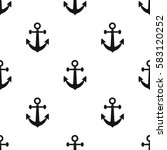 anchor icon in black style... | Shutterstock .eps vector #583120252