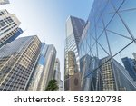 skyline of hong kong city  | Shutterstock . vector #583120738