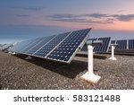 china shanghai  solar power... | Shutterstock . vector #583121488