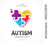 autism awareness month. it's...   Shutterstock .eps vector #583123045