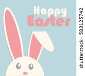 white easter rabbit. easter... | Shutterstock .eps vector #583125742