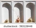 An Arched Niche In A White Wall ...