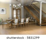 restaurant a room in classical... | Shutterstock . vector #5831299