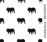 english bulldog icon in black... | Shutterstock .eps vector #583132045
