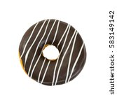 chocolate donut isolated on... | Shutterstock . vector #583149142