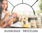 manual breast pump  mothers... | Shutterstock . vector #583151266