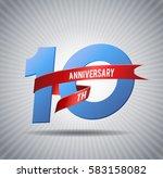 10 years anniversary... | Shutterstock .eps vector #583158082