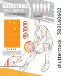 basketball infographic vector.... | Shutterstock .eps vector #583160602